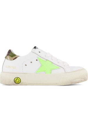 Golden Goose Kids - and Star Lace Up Leather Trainers with Ripstop Heel - Unisex - 23 (UK 6) - - Casual trainers