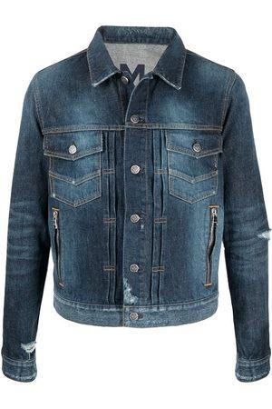 Balmain Distressed-Effect Denim Jacket