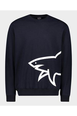 Paul & Shark Men Sweatshirts - Organic Cotton Sweatshirt With Printed Mega Shark