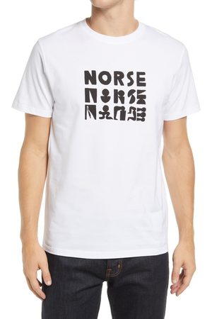 Norse projects Men's Gm X Np Niels Norse Logo Cotton Graphic Tee