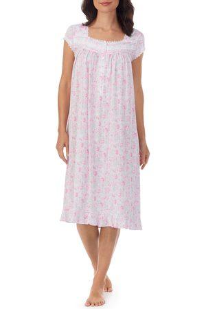 Eileen West Women's Lace Trim Waltz Nightgown