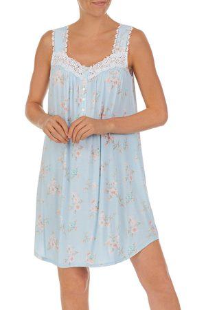 Eileen West Women's Floral Short Jersey Nightgown