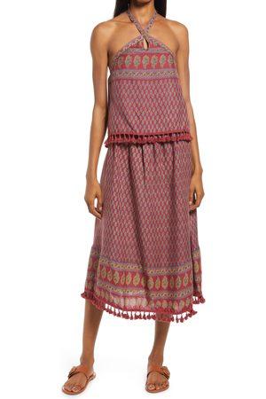 Raga Women's Avah Ruffle Halter Midi Dress