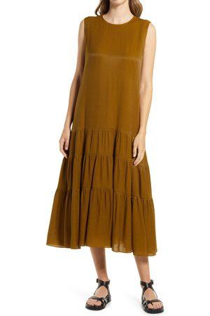Nordstrom Women's Tiered Sleeveless Satin A-Line Dress