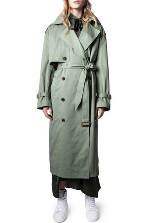 Zadig & Voltaire Women's Kena Oversize Double Breasted Trench Coat