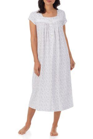 Eileen West Women's Lace Trim Cotton Jersey Nightgown