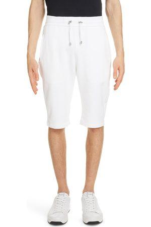 Balmain Men's Flocked Logo Bermuda Sweat Shorts