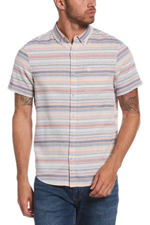 Original Penguin Men's Stripe Short Sleeve Button-Down Shirt