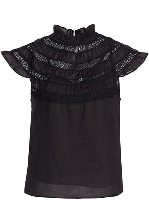 Frame Women Short sleeves - Lace Inset Short Sleeve Top