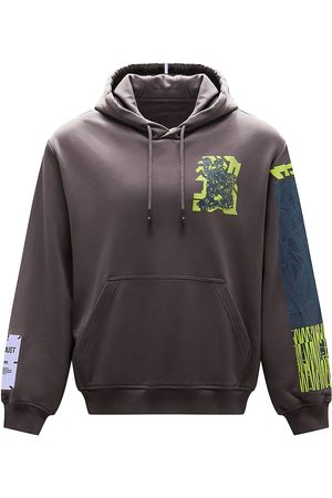 McQ Relaxed Graphic-Print Hoodie