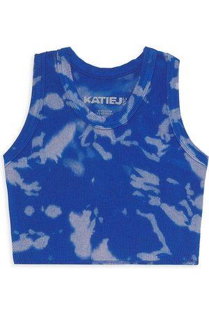 KatieJ NYC Girl's Livi Tie-Dye Crop Top