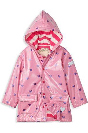 Hatley Little Girl's & Girl's Scattered Hearts Glitter Raincoat