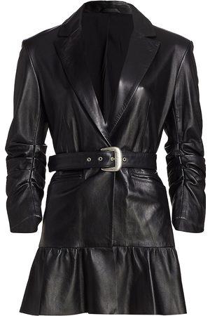 Cinq Sept Natasha Belted Leather Blazer