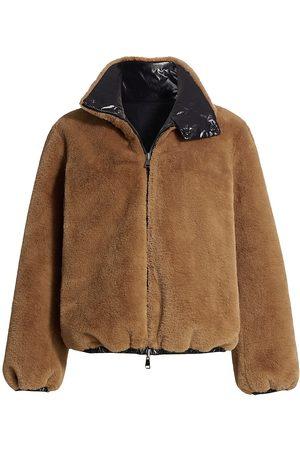 Moncler Adoxe Reversible Fleece & Nylon Jacket