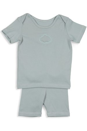 Pouf Baby's & Little Boy's 2-Piece Embroidered Cloud Set