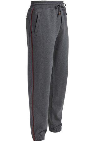 Brunello Cucinelli Men Sweatpants - Contrast-Piped Joggers