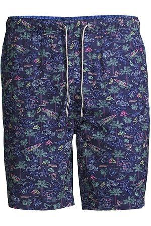 Peter Millar Men Swim Shorts - Vintage Print Drawstring Swim Trunks
