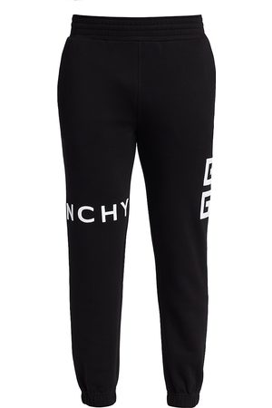 Givenchy Men Skinny Pants - Slim-Fit Embroidered Logo Joggers