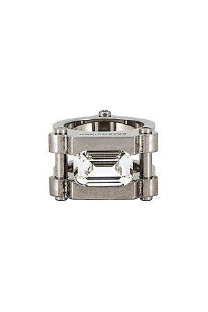 Balenciaga Gear Ring in Metallic