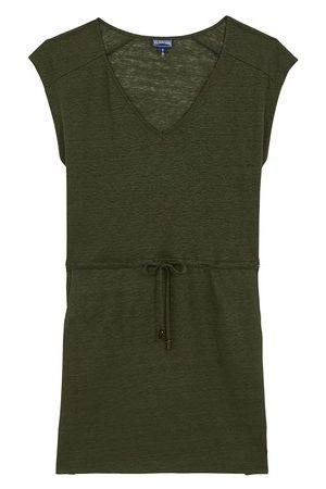 Vilebrequin Short Linen Jersey Dress Solid