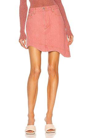 Ganni Yarn Dyed Denim Skirt in
