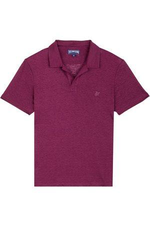 Vilebrequin Men Polo Shirts - Linen Jersey Polo Shirt Solid