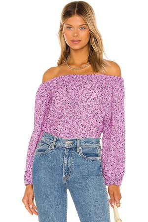 AFRM X REVOLVE Nessa Bodysuit in Lavender.