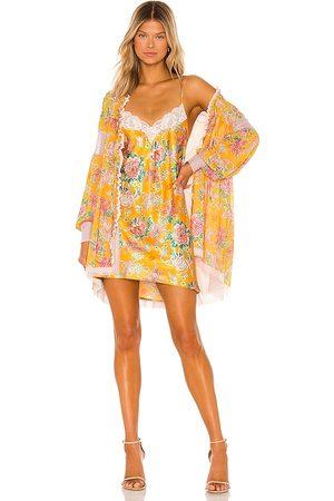 HAH Women Casual Dresses - Make It A Double Slip Dress in Mustard.