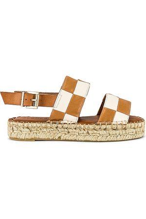 ALOHAS Double Strap Scacchi Sandal in Tan.