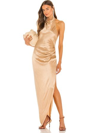 Amanda Uprichard X REVOLVE Samba Gown in Beige,Metallic Neutral.