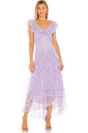 Sau Lee Rosie Gown in Lavender.