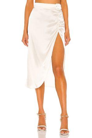 Amanda Uprichard Women Midi Skirts - Fabi Skirt in Ivory.