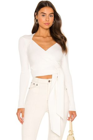 Misha Roselle Knit Wrap Top in .