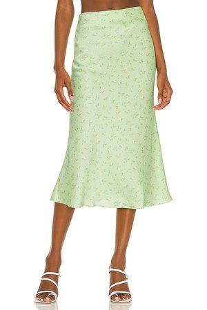 Camila Coelho Gysele Midi Skirt in Sage.