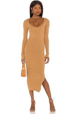 L'Academie Nessa Sweater Dress in Tan.