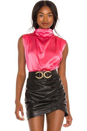 Amanda Uprichard Fabienne Top in Pink.