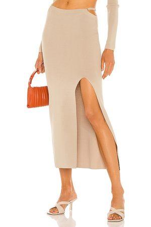 AYA MUSE Diamond Knit Skirt in .