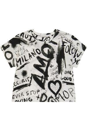 Dolce & Gabbana Short-sleeved graffiti printed T-shirt