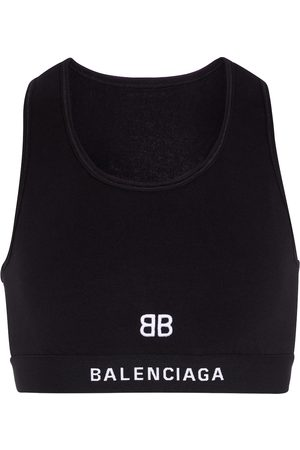 Balenciaga Cotton jersey sports bra