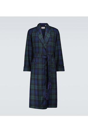 DEREK ROSE Tartan wool robe