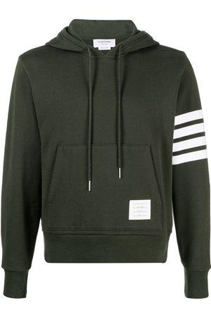 Thom Browne Men Hoodies - 4-Bar stripe cotton hoodie