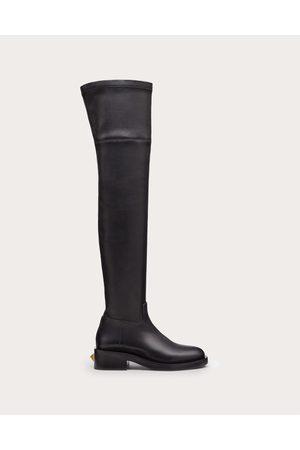 VALENTINO GARAVANI Women Thigh High Boots - Roman Stud Stretch Nappa Over-the-knee Boot 30mm Women 100% Lambskin 36