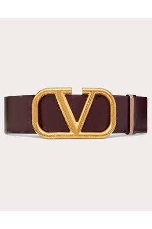 VALENTINO GARAVANI Women Belts - Reversible Vlogo Signature Belt In Grainy Calfskin 70mm Women Rubin/rose Canelle 100% Pelle Di Vitello - Bos Taurus 70