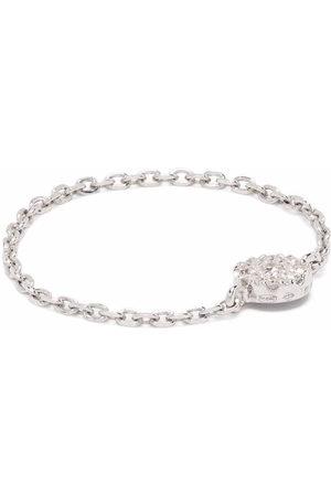 DJULA 18kt white gold target chain diamond ring