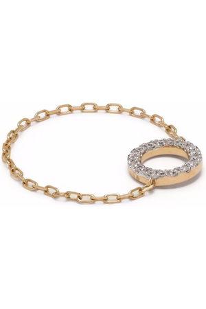 DJULA Women Rings - 18kt yellow circle chain diamond ring