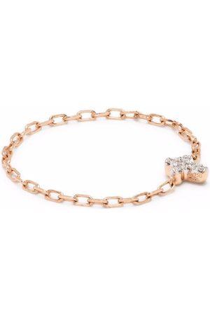 DJULA Women Rings - 18kt rose cross chain diamond ring