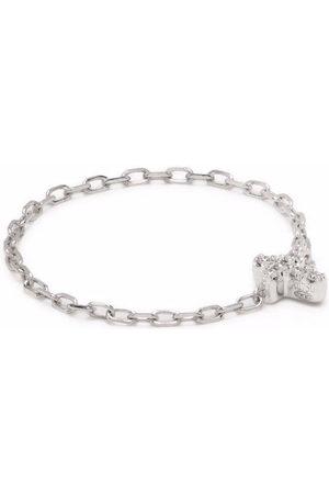 DJULA Women Rings - 18kt white gold cross chain diamond ring