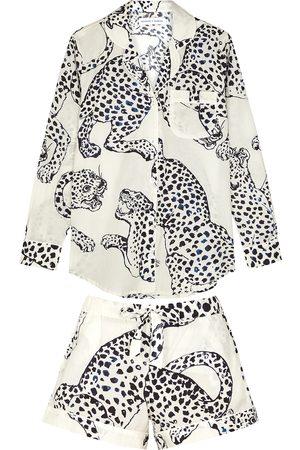 Desmond & Dempsey The Jag printed cotton pyjama set