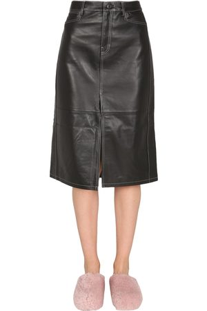 PROENZA SCHOULER WHITE LABEL Nappa leather skirt