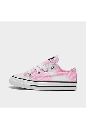 Converse Casual Shoes - Girls' Toddler Chuck Taylor Ox Tie-Dye Casual Shoes Size 4.0 Canvas